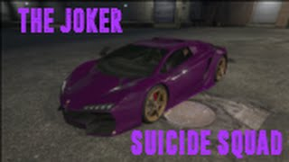 GTA Online - Customized Suicide Squad Jared Leto Joker Car