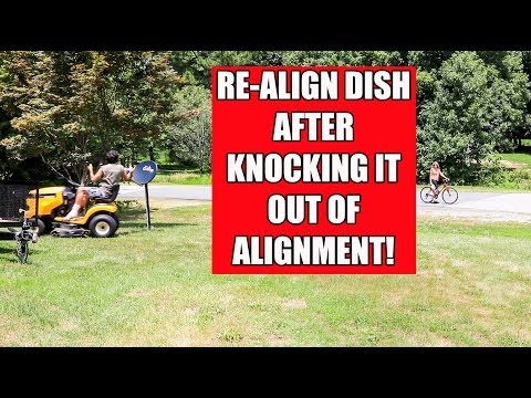 Align Satellite Dish Without a Meter After Hitting it! - YouTube