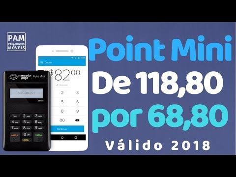 Maquininha Mercado Pago Point Mini com Desconto de 50,00 #DescontoPAM
