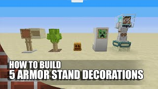 5 More Armor Stand Builds/Decorations In Minecraft!