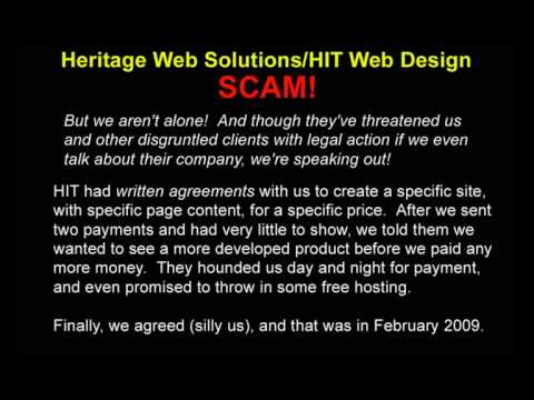SCAM ALERT: Heritage Web Solutions/HIT Web Design