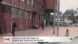 Evacúan sede del Inpec en Bogotá por amenaza de bomba
