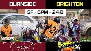 LSA TV 2019 Living Choice Australia Mens State League - Major Semi Final - Brighton Lacrosse club V