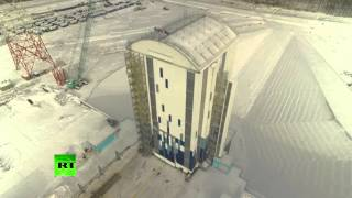 RAW: Drone footage of Russia's new Vostochny Cosmodrome (EXCLUSIVE)