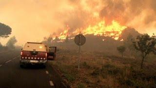 صعوبة في السيطرة على حرائق غابات قريبة من برشلونة    27-7-2015