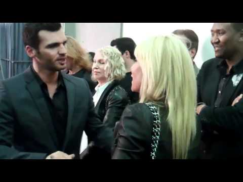 Tony Dovolani Meets Pamela Bach Hasselhoff DWTS