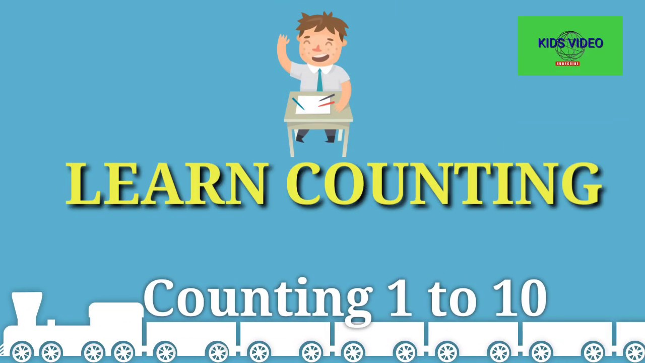 Counting videos for toddlers, 1-10 numbers
