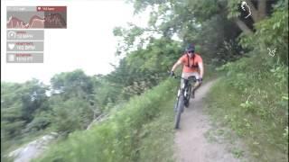 Lake Rebecca Singletrack Trail - playing with Garmin Virb Settings
