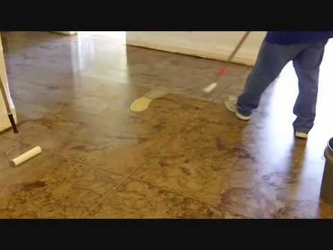 Do it yourself concrete staining how to stain concrete for How to care for stained concrete floors
