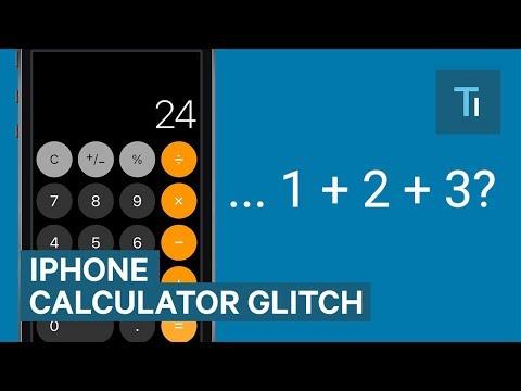 The iPhones Calculator app isn't working properly
