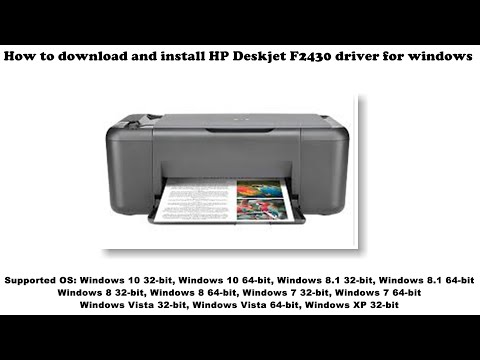 How To Download And Install HP Deskjet F2430 Driver Windows 10, 8 1, 8, 7, Vista, XP
