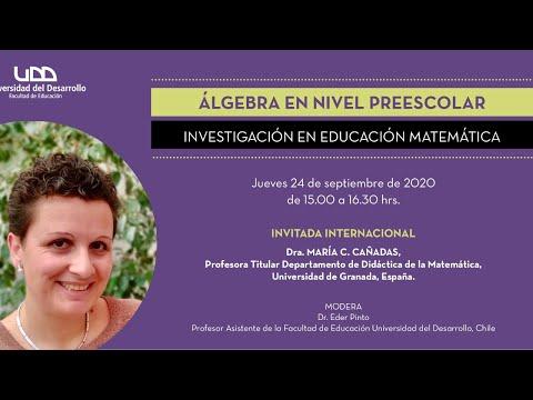 Charla: Álgebra en nivel preescolar: investigación en educación matemática