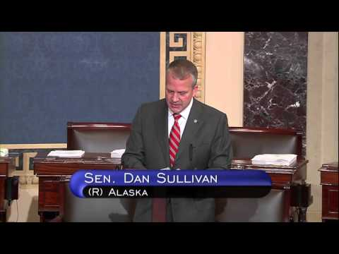 Sen. Dan Sullivan (R-AK) speaks on the Senate Floor, November 9, 2015