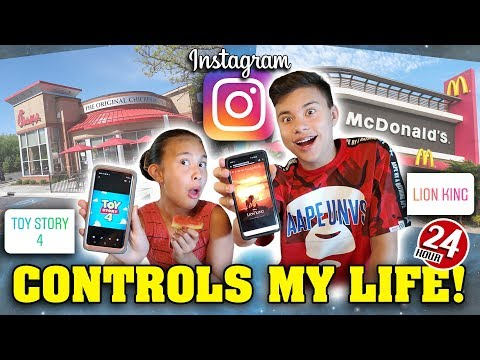 INSTAGRAM CONTROLS MY LIFE FOR A DAY 24 Hour Challenge