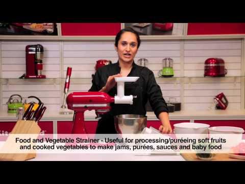 KITCHENAID 抬頭式多功能廚師機-食物研磨器配件 (FGA) 相關視頻