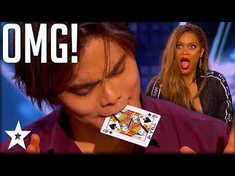 Card Magician Wows Tyra Banks on Stage!   America's Got Talent   Got Talent Global