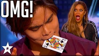 Card Magician Wows Tyra Banks on Stage! | America's Got Talent | Got Talent Global thumbnail