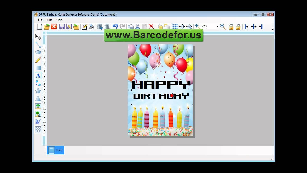 Steps To Create Birthday Cards Using DRPU Card Maker Software