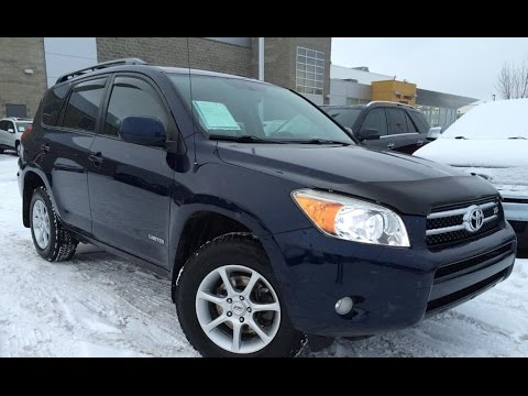 Used Blue 2007 Toyota RAV4 4WD V6 Limited Review | Drumheller Alberta    YouTube