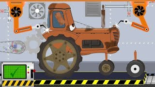 Tractor For Kids | Tractor, Garbage Truck, Excavator, Tractors Of Toy Factory | Video For Kids