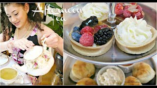 AFTERNOON TEA PARTY ! HOW TO DIY +ETIQUETTE LESSON FOR AMERICAN TEENS ! thumbnail