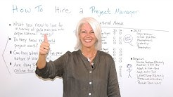 How To Hire A Project Manager - Management Training