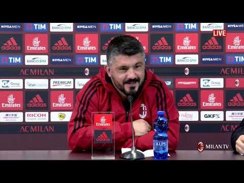 Gattuso conferenza pre Juve - Milan 30.03.2018