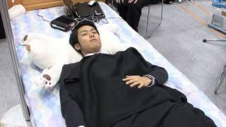 患者の顔を叩いて睡眠時無呼吸を改善する枕型ロボット #DigInfo