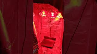 Under $150 low budget DIY home infrared sauna using grow tent