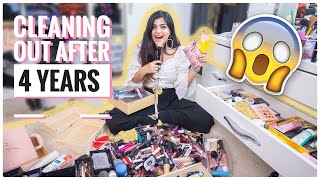 Cleaning out/ Organizing my entire makeup collection 💄after 4 years 😱|| Organize with Kritika
