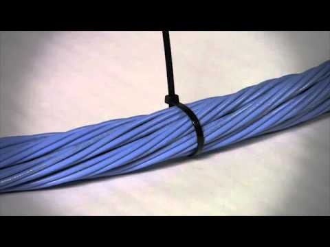 How To  Install Panduit Releasable Cable Ties