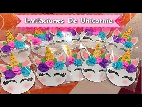Como Hacer Invitaciones De Unicornio Youtube