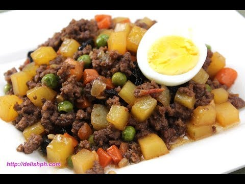 Beef Giniling Aka Filipino Picadillo Youtube