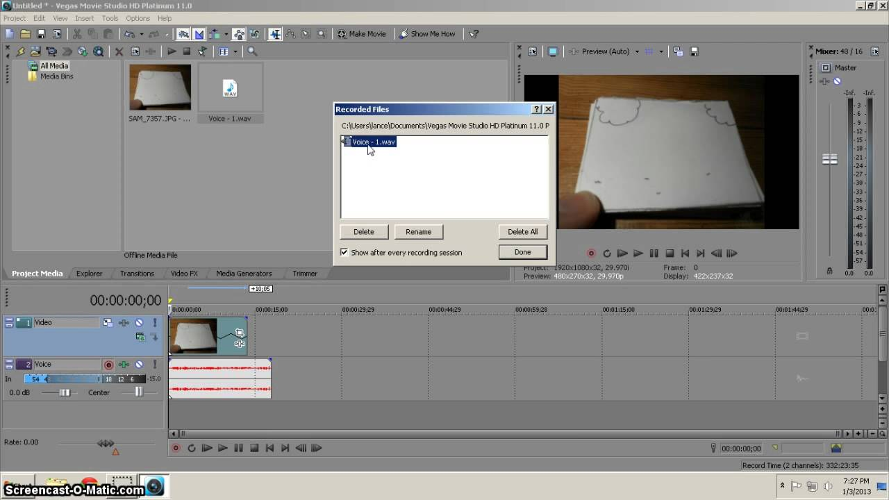 how to add slow motion in sony vegas