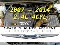 DIY: 2.4L Spark Plugs 4 cyl | 200 Sebring Avenger Caliber Journey Compass Patriot