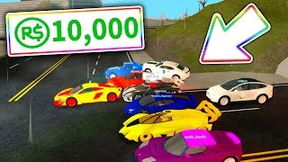 10,000 ROBUX FAN RACE in VEHICLE SIMULATOR! (Roblox Vehicle Simulator)