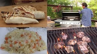 Grilling Series: Jam and Ham Roll-up, Tzatziki Sauce, Marinated Lamb, & Greek Rice (# Episode 419)
