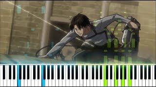 """[Attack On Titan Season 3 ED 1] """"Requiem Der Morgenröte"""" - Linked Horizon (Synthesia Piano Tutorial)"""