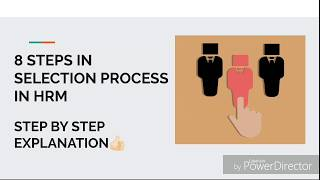 Watch this video upto the end to know complete 8 steps involved in selection process hrm which includes tests, interview hi...