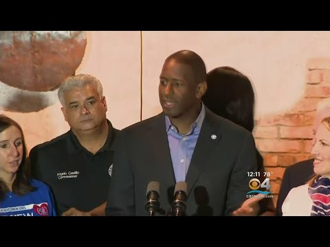 Former President Barack Obama Campaigns Friday For Andrew Gillum In Miami