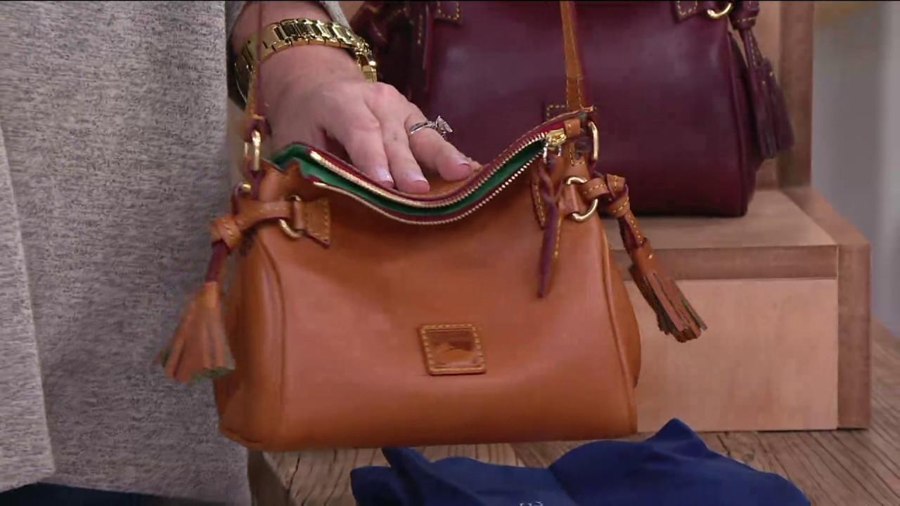 9f5da4b72bb Dooney   Bourke Florentine Leather Mini Zip Crossbody on QVC - YouTube