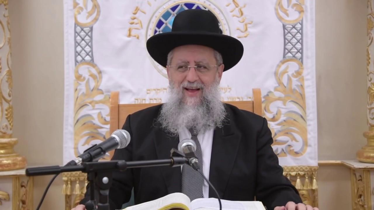 הרב דוד יוסף שליט״א בעל הלכה ברורה שיעור הלכות כיסוי החלות בשבת