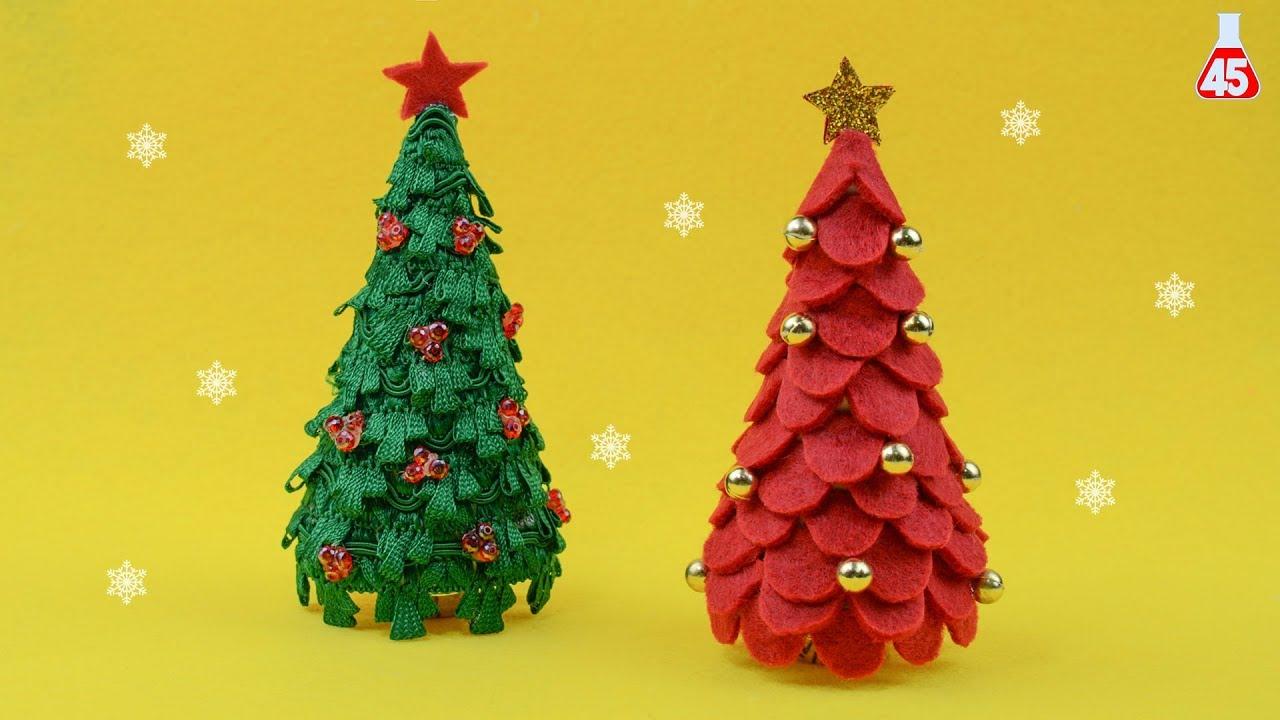 Albero Di Natale Youtube.Albero Di Natale Semplice Senza Cucire Tutorial Youtube