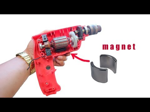 How to turn a damaged 220v drill into a 12v battery drill