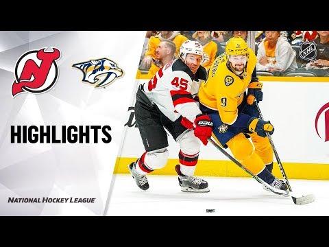 NHL Highlights   Devils @ Predators 12/07/19