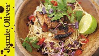 Crispy Pork with Noodles - Jamie at Home