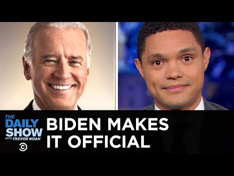 Joe Biden Jumps on the 2020 Train with a Whole Lot of Baggage | The Daily Show