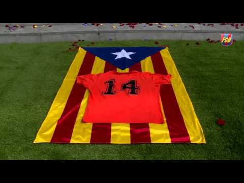 Tribute to Johan Cruyff at Camp Nou