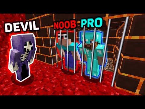 Minecraft NOOB vs PRO vs DEVIL : HOW TO ESCAPE FROM DEVIL PRISON? IN MINECRAFT! ANIMATION!