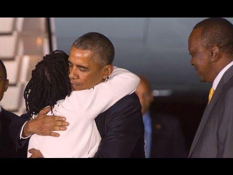 Auma steals the show as Obama lands